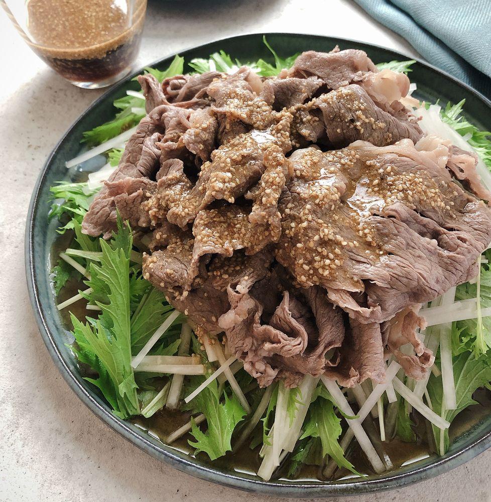 まろやかきび酢の牛肉サラダ